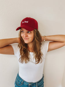"""Be Kind"" Burgundy Hat"