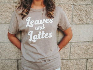 Leaves and Lattes Tee- Lovelies