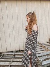 Load image into Gallery viewer, Black/ Ivory Checkered Print Dress- Lovelies