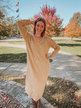 Load image into Gallery viewer, Beige Sweater Dress- Lovelies