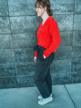 Load image into Gallery viewer, Black Denim Belted Pants- Lovelies