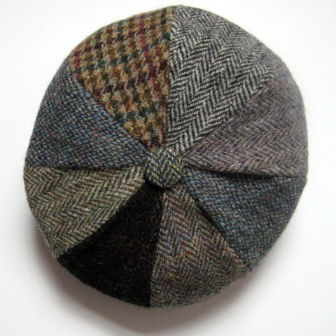 8 piece Harris tweed cap
