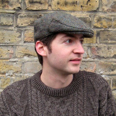 100% Harris tweed flat cap