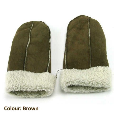 Pieced Sheepskin Mittens