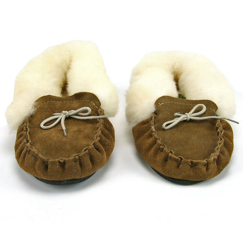 Genuine Sheepskin Ladies Collared Moccasin