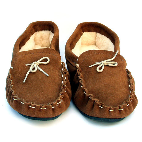Real Sheepskin Moccasins with Sole