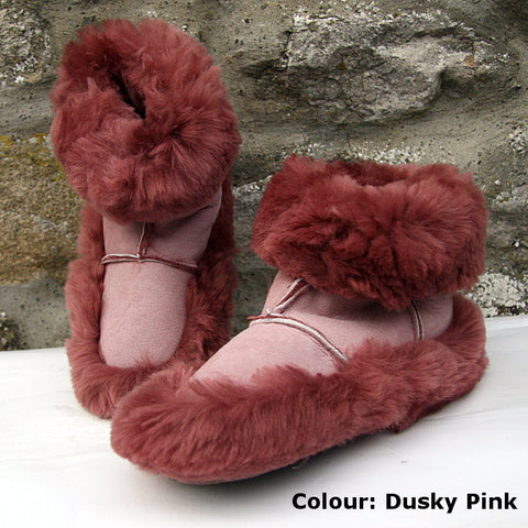 Real Sheepskin Snuggle Boot Slipper