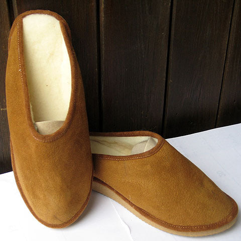 Real sheepskin mule with sole