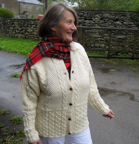 Ladies Aran cardigan