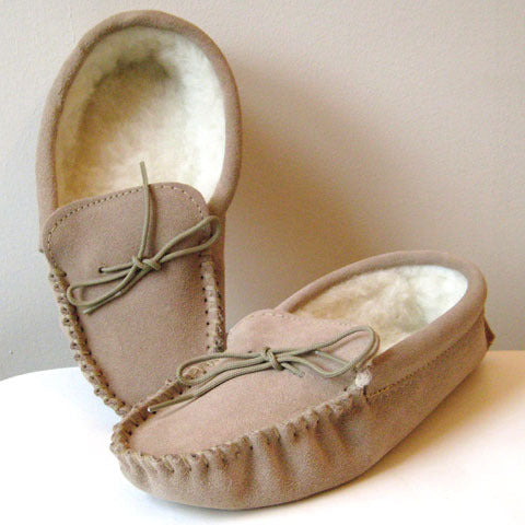 Lambswool Lined Moccasin Slippers