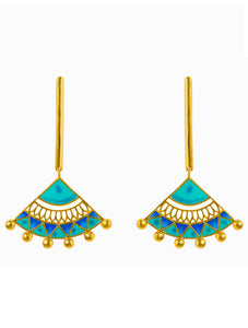 Blue Madhubani Earrings