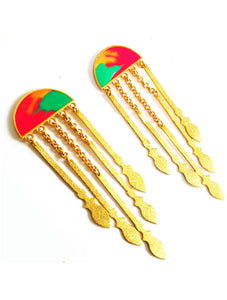 Tribal spears earrings-MULTI