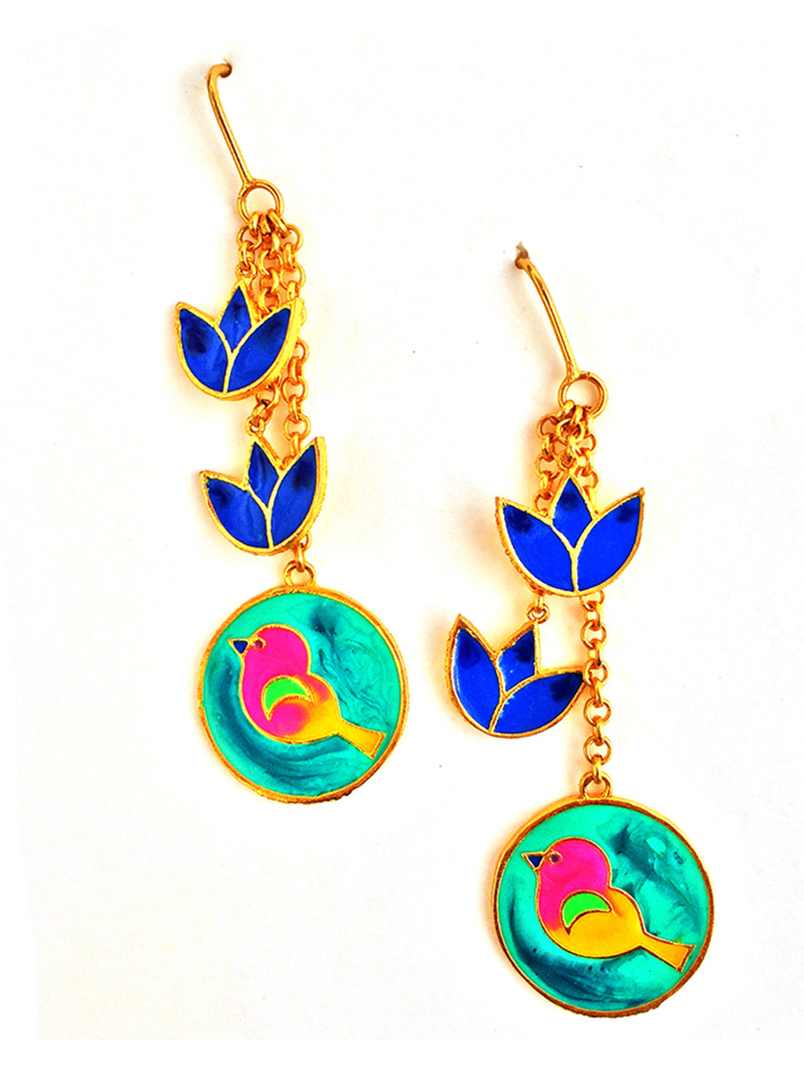 Birds And Flowers Earrings