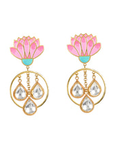 Load image into Gallery viewer, Spring bloom jadau earrings