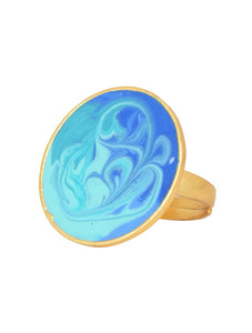 Blue Colour Carnival Ring