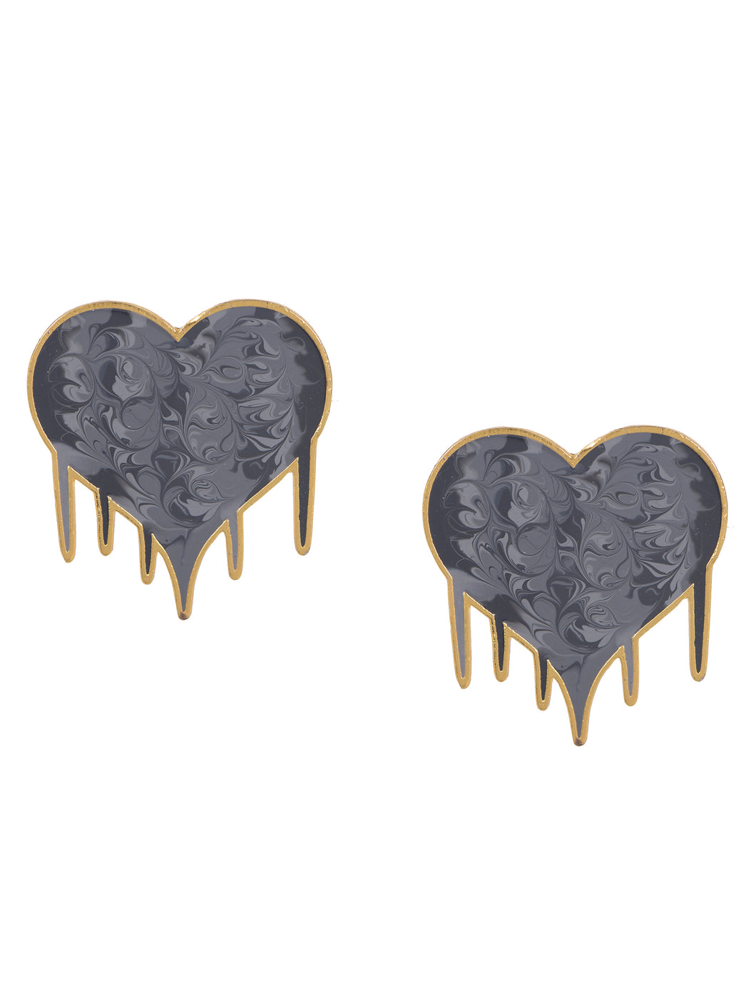Hearts full of love earrings- grey