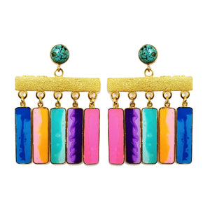 Geometric fringe earrings