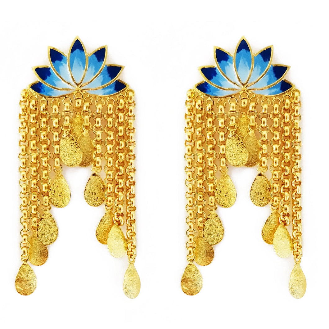 Glorious Lotus Earrings