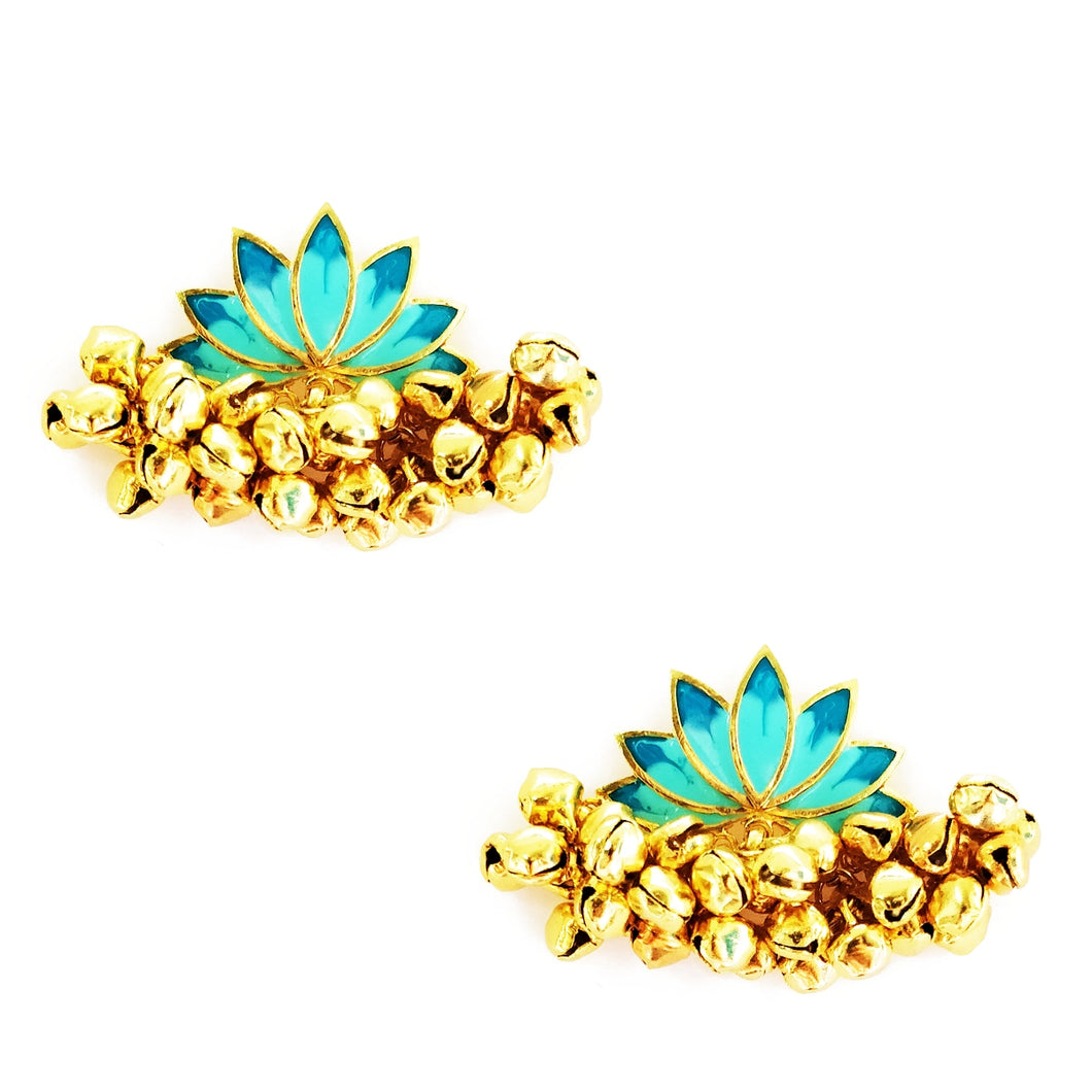 Lotus Ghunghroo Earrings