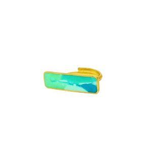Ocean hues rectangle ring