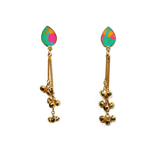 Drop ghungroo earrings