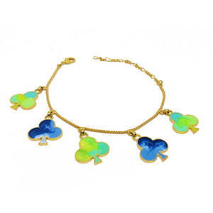 Five of clubs bracelet
