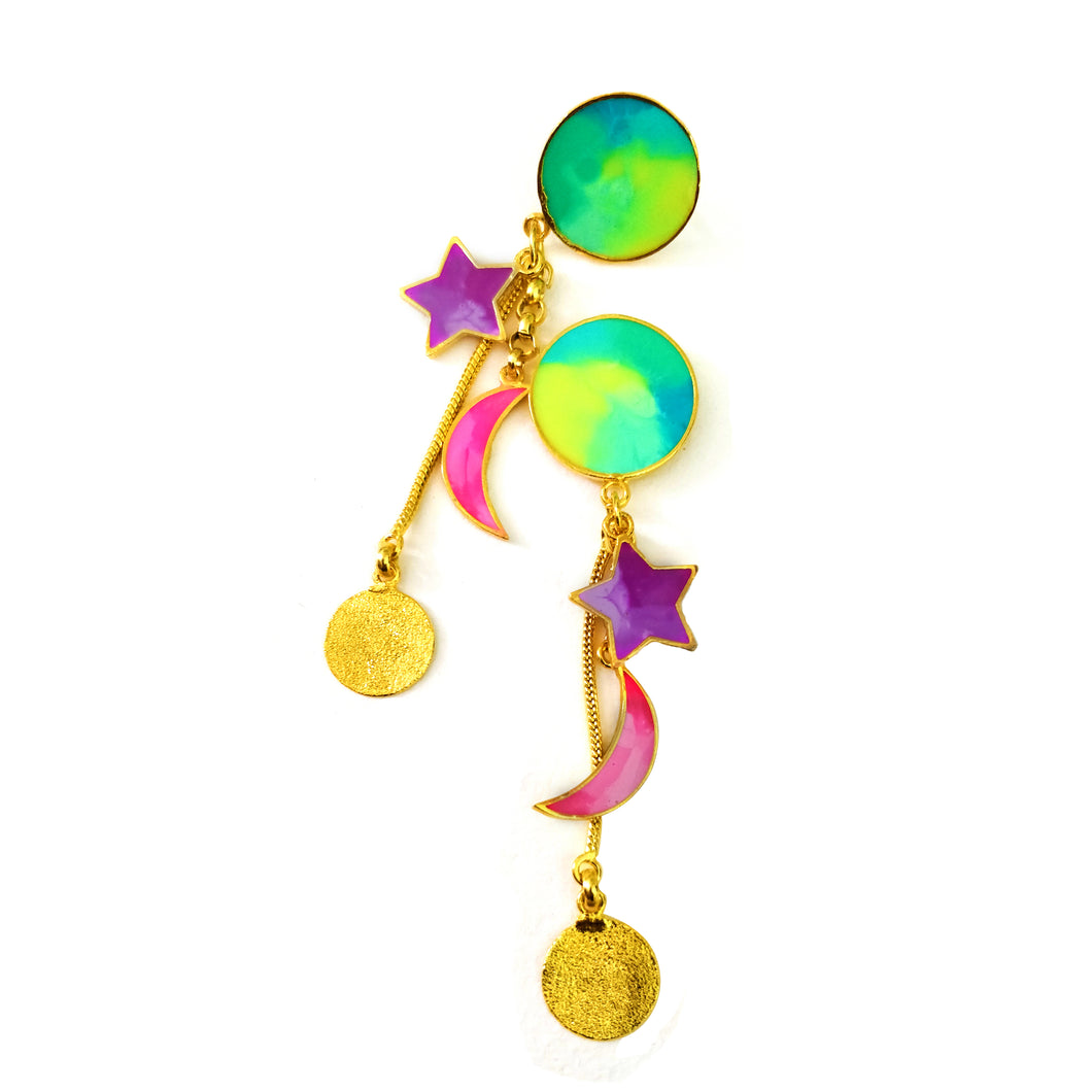 The moon and the stars earrings