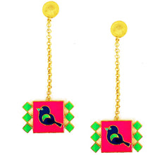 Load image into Gallery viewer, Bird in the window earrings