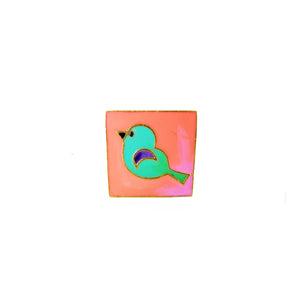 Birdy Ring Pink Peach