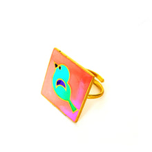 Load image into Gallery viewer, Birdy Ring Pink Peach
