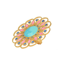 Load image into Gallery viewer, Illuminate ring-turquoise