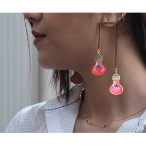 Pink Lamp Post Earrings