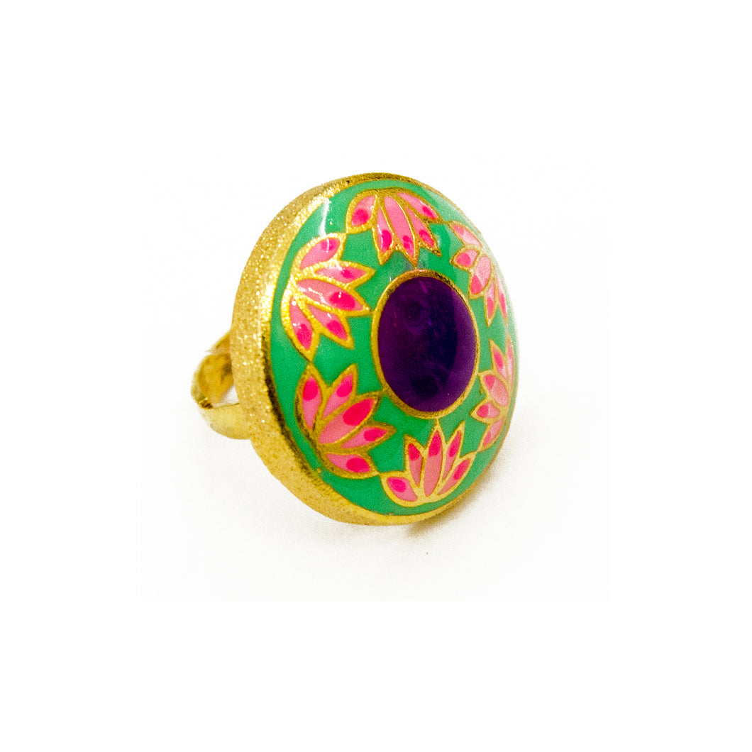 Purple Lotus Ring
