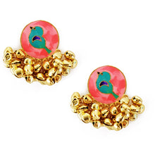 Load image into Gallery viewer, Peach Birdy Earrings