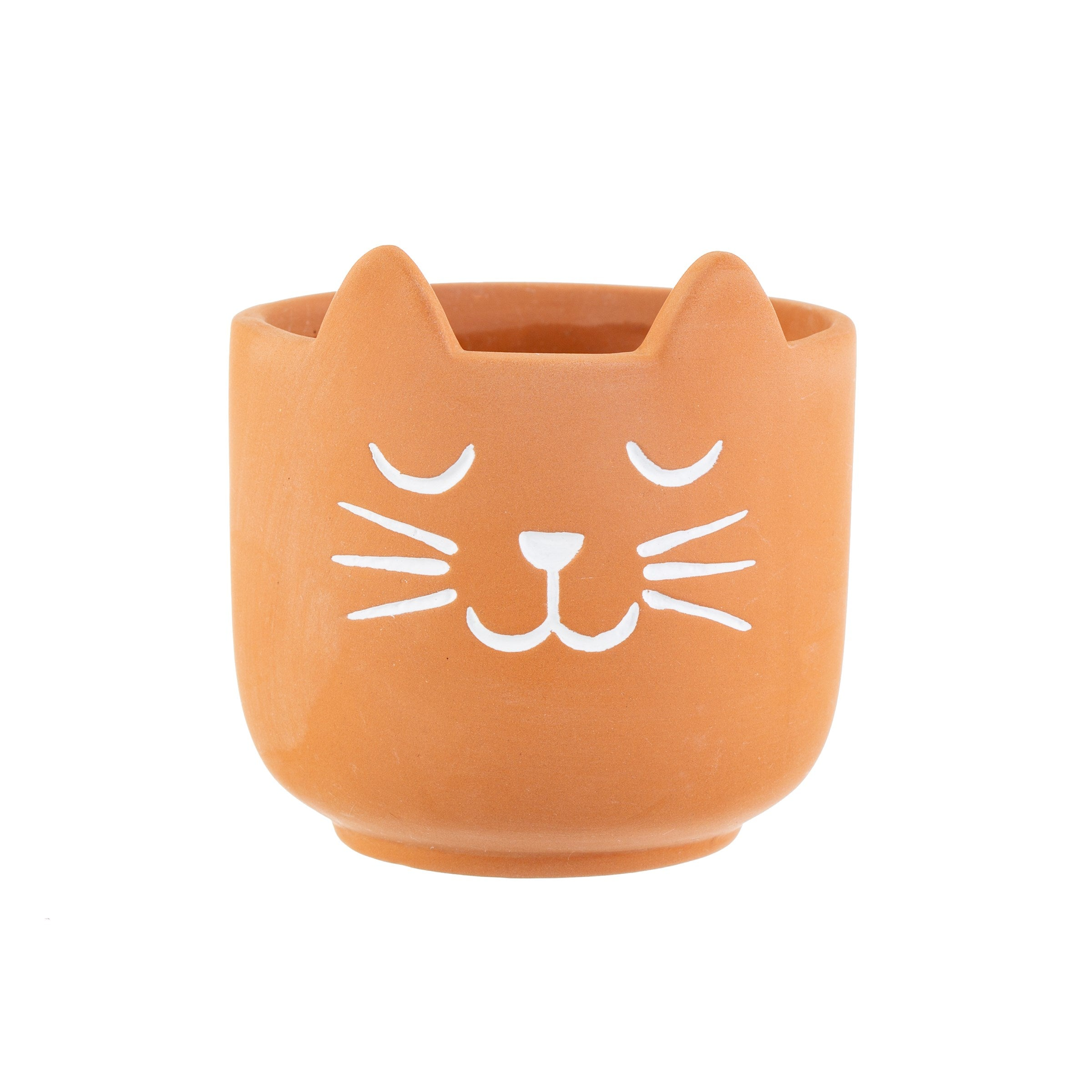 Mini Terracotta Cat Planter
