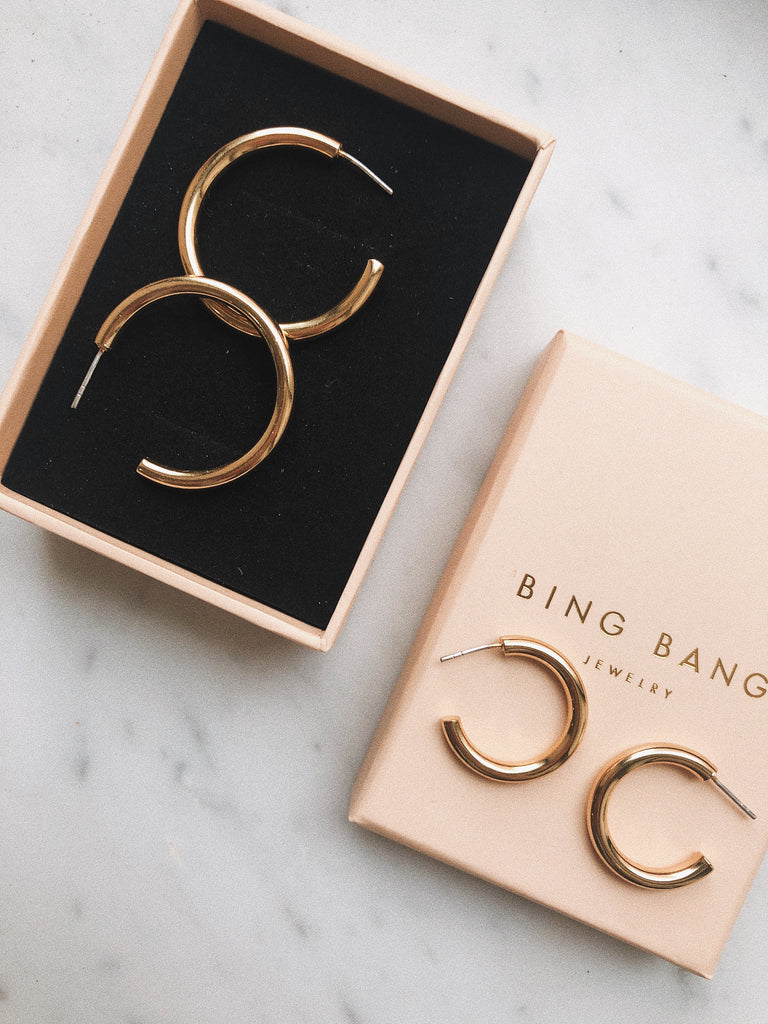 90s Drew Hoops - Bing Bang Jewelry NYC