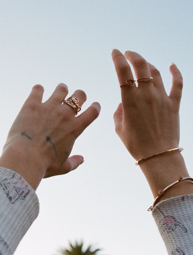 Bad Bitch Ring Set (BB x Me & You) - Bing Bang Jewelry NYC