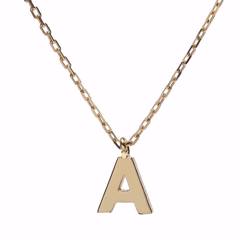 Minimal Initial Necklace - Bing Bang NYC