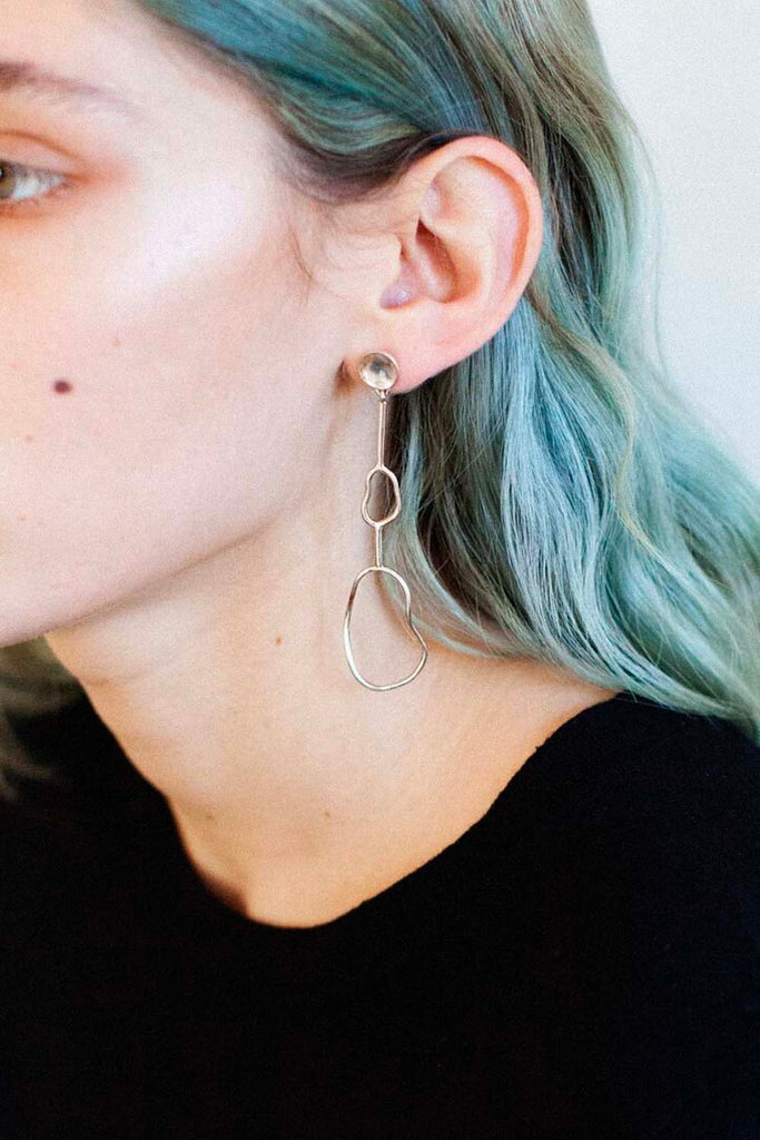 Aalto Asymmetric Earring Duet - Bing Bang Jewelry NYC
