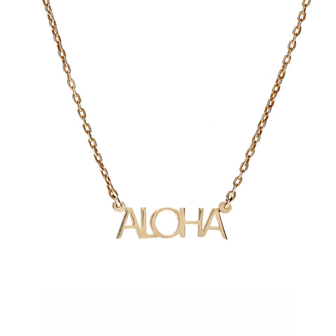 ALOHA Necklace - Bing Bang Jewelry NYC