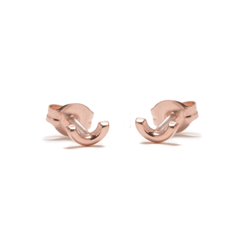 Arc Studs-Rose Gold - Bing Bang Jewelry NYC