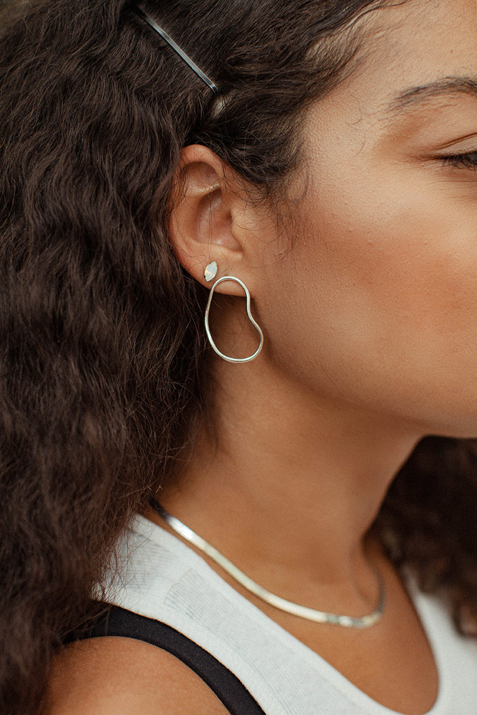 Aalto Outline Earrings - Petit - Bing Bang Jewelry NYC