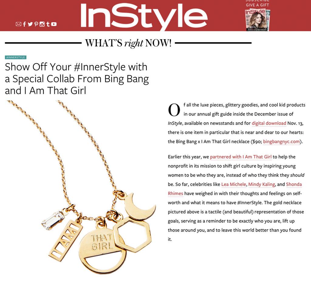 I AM THAT GIRL Necklace (Collaboration) - Bing Bang Jewelry NYC
