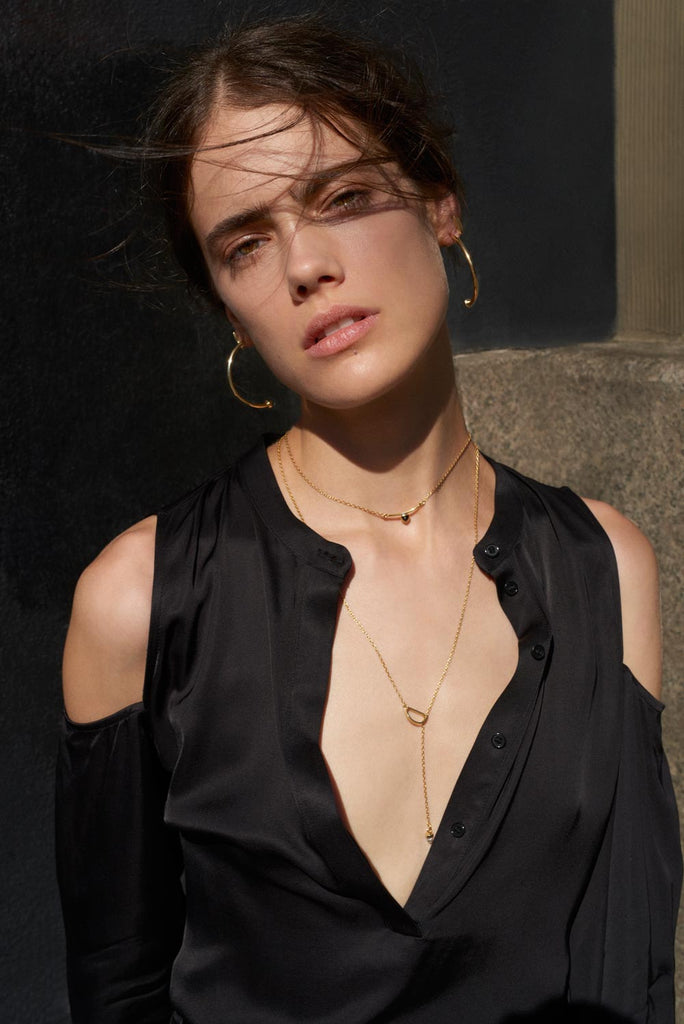 Zenith Lariat Necklace - Bing Bang Jewelry NYC
