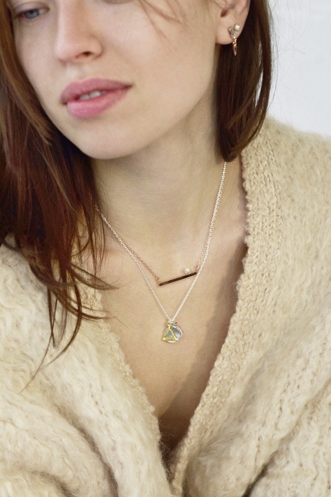Geo Charm Pendant Necklace - Bing Bang NYC - 5