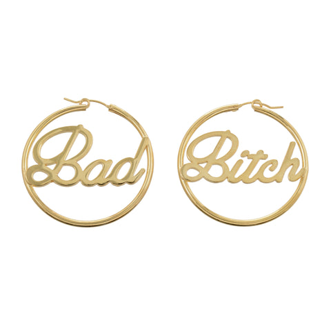 Bad Bitch Hoops (BB x Me & You) - Bing Bang Jewelry NYC