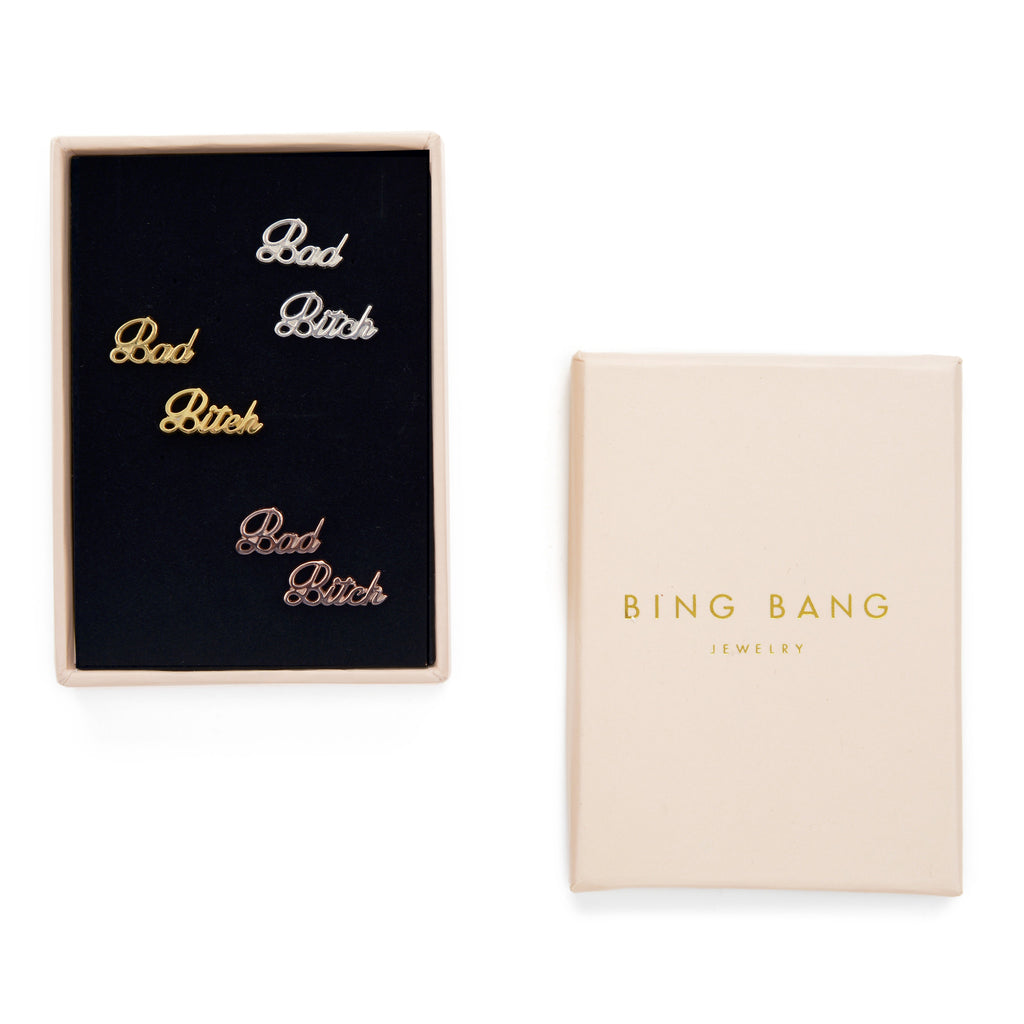 Bad Bitch Studs (BB x Me & You) - Bing Bang Jewelry NYC