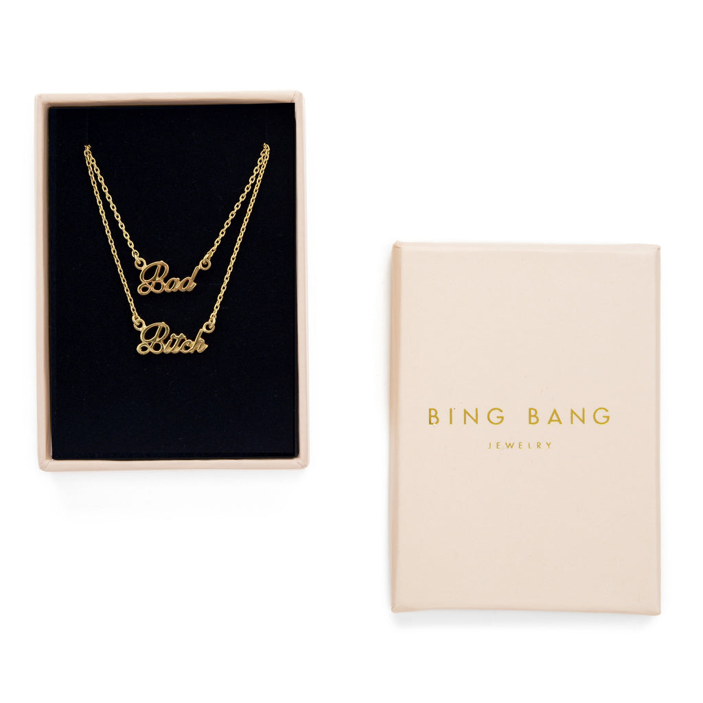 Bad Bitch Necklace Set (BB x Me & You) - Bing Bang Jewelry NYC
