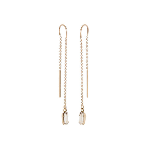 Baguette Threader Earrings - Bing Bang Jewelry NYC