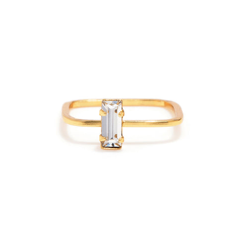 Balancing Baguette Ring - Bing Bang Jewelry NYC